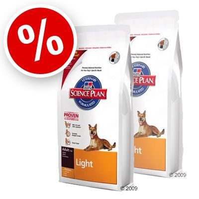 Hill's Canine Light Adult with Chicken - Economy Pack: 2 x 12 kg