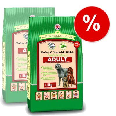 James Wellbeloved Adult Turkey & Vegetable - Cereal Free - Economy Pack: 2 x 10 kg