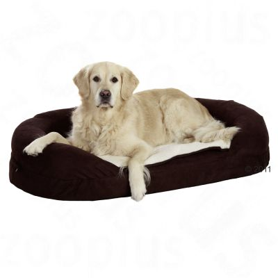 Karlie OrthoBed Oval, brown - approx. 118 x 72 x 24 cm (L x W x H)