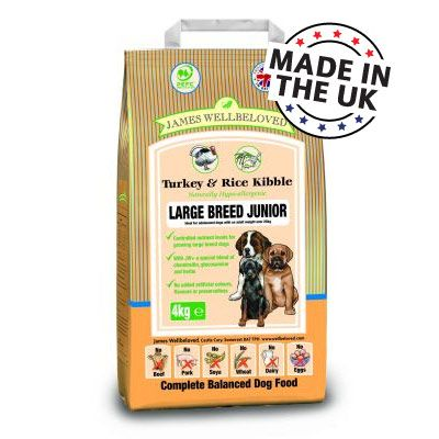 James Wellbeloved Junior Large Breed Turkey & Rice - 15 kg