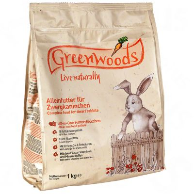 Greenwoods pour lapin nain - 2 x 3 kg