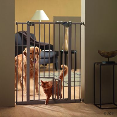 Savic Dog Barrier 2 with Cat Door - Height 107 cm, 7 cm extension