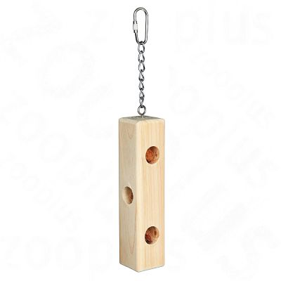 Wooden Snack Block filled with Almonds, 25 cm - 25 cm