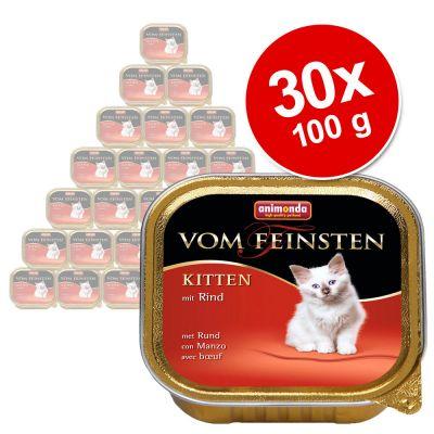 Megapakiet Animonda vom Feinsten Kitten, 30 x 100 g - - Z jagnięciną
