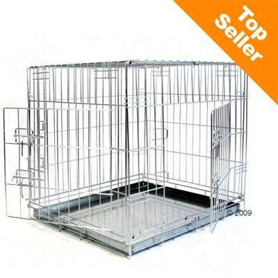 Double Door Transport Cage - Size M: 78 x 55 x 61 cm (L x W x H)