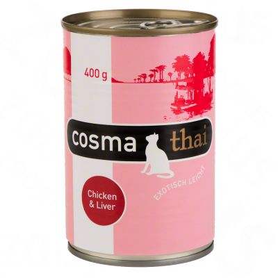 Cosma Thai in Jelly 6 x 400g - Chicken with Chicken Liver