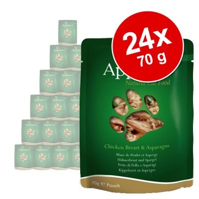 Megapakiet Applaws Selection, 24 x 70 g - - Kurczak i szparagi
