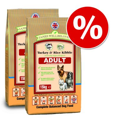 James Wellbeloved Dry Dog Food Economy Packs - Junior Large Breed Lamb & Rice 2 x 15kg