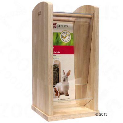 Mangeoire a foin Living World Green pour rongeur et lapin - taille L : L 18 x l 18 x H 36,5 cm