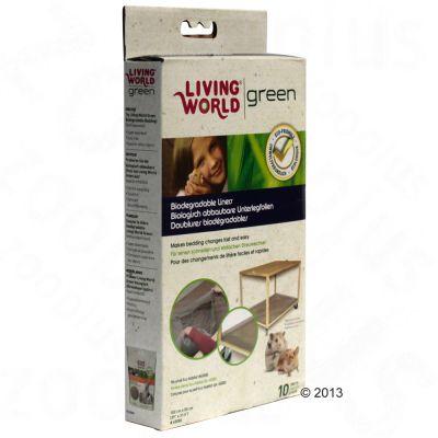 Living World Green Tapis pour rongeur et lapin - 10 tapis : L 140 x l 100 cm