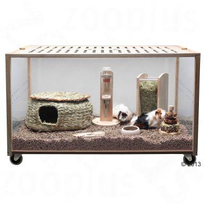 Cage Living World Green Eco Habitat pour rongeur et lapin - L 98,5 x l 58,5 x H 61 cm