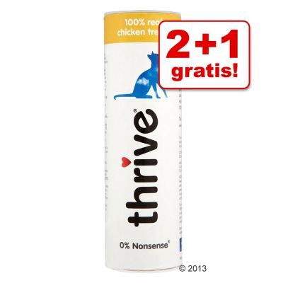 2 1 gratis 3 x Thrive Gefriergetrocknete Katzensnacks - - Garnele 3 x 18 g 