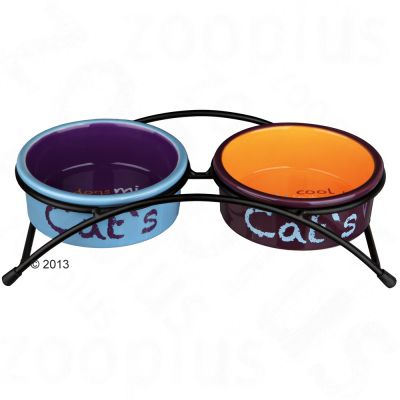 Trixie Eat on Feet Ceramic Bowl Set - 2 x 0.3 litre