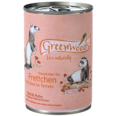Greenwoods bœuf, poulet pour furet - 24 x 400 g