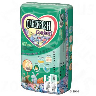 Litiere Carefresh Confetti pour rongeur et lapin - 10 L