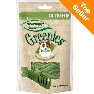 Multipack Greenies Dental Care Dog Chews - Teenie 14 pieces (for dogs between 2 and 7 kg)