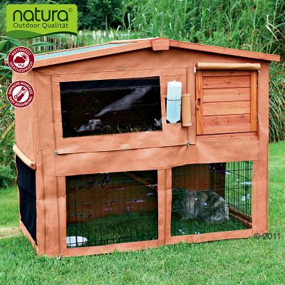 Protective Cover for Rabbit Hutch and Run 116 x 69 x 97 - 127 × 107 × 73 cm (L x W x H)