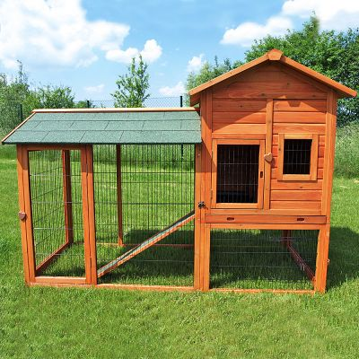Outback Rabbit Hutch Deluxe with Run - 211 x 97.6 x 150 cm (LxWxH) (Price includes bulk fee)