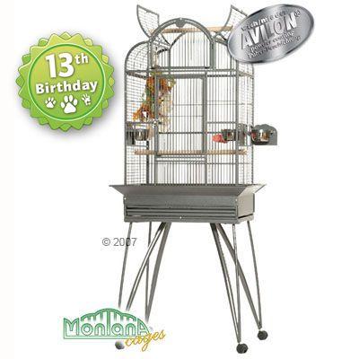 Montana Bird Cage Brazil - antique: 70 x 55 x 159 cm (LxWxH) (2 packages*)