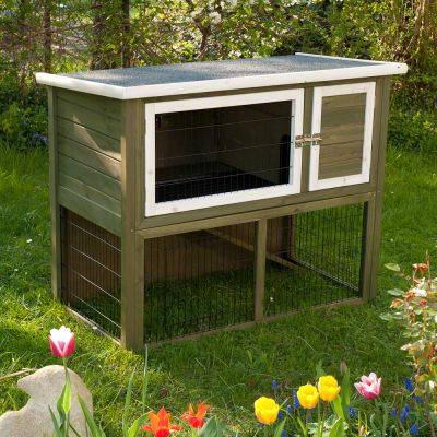 Outback Hutch Compact Green with Run - 116 x 63 x 92 cm (L x W x H)