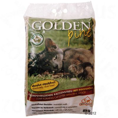 Golden Pine Cat Litter - Economy Pack: 2 x 8kg
