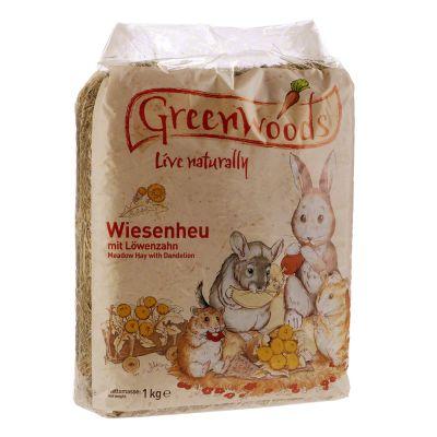 Greenwoods Foin de prairie pour rongeur et lapin - carottes 1 kg
