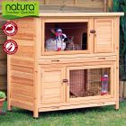 Trixie Natura Rabbit Hutch Double Storey - 116 x 65 x 111 cm (L x W x H) (price includes bulk fee)