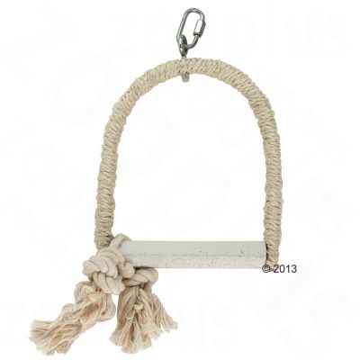 Sisal Swing with Lime Perch - Size S: 14 x 2 x 18 cm (LxWxH)