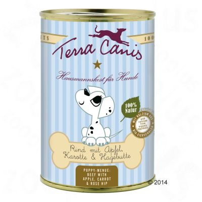 Terra Canis Puppy Food 6 x 400g - Beef with Apple, Carrot & Rose Hip
