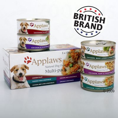 Applaws Dog Food Multi-Pack 5 x 156 g - 5 x 156 g Chicken Varieties