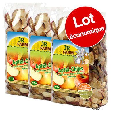 Lot JR Farm Chips de pomme pour rongeur - 3 x 250 g