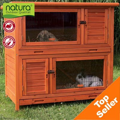 Trixie Natura Hutch 2 in 1 with Insulation - 116 x 65 x 113 cm (L x W x H)