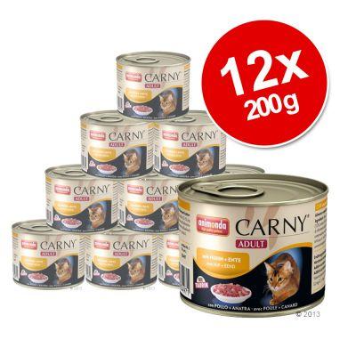 Animonda Carny Adult Mixed Saver Pack 12 x 200g - Turkey & Shrimp
