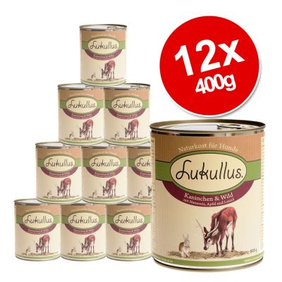 Lukullus Saver Pack 12 x 400g - Wild Rabbit & Turkey