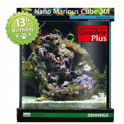 Dennerle Nano Marinus Cube Complete PLUS 30 Litres - Size: 30 x 30 x 35 cm (L x W x H)