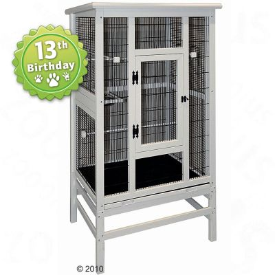 Bird Aviary Romantic - white