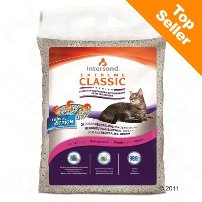 Extreme Classic Baby Powder Scented Cat Litter - 15 kg