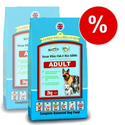 James Wellbeloved Adult Complete Fish & Rice - Economy Pack: 2 x 15 kg