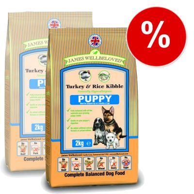 James Wellbeloved Complete Puppy Turkey & Rice - Economy Pack: 2 x 15 kg
