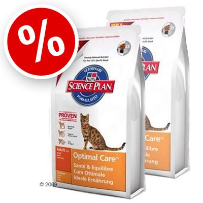 Science Plan Feline Adult Optimal Care Chicken - Economy Pack 2 x 15 kg