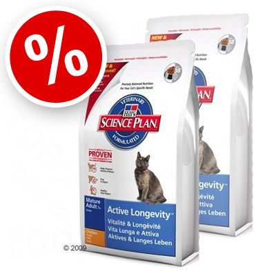 Science Plan Feline Mature Adult 7+ Active Longevity Chicken - Economy Pack 2 x