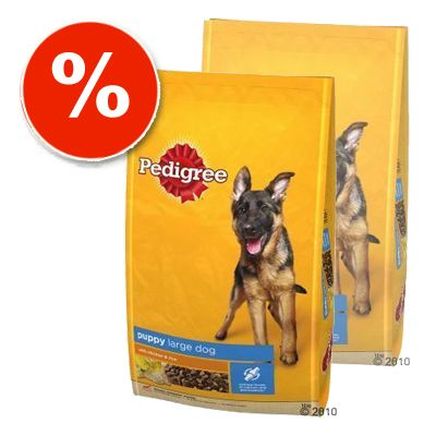 Pedigree Double Savers: Junior, Junior Maxi - 2 x 15 kg Pedigree Junior Poultry & Rice