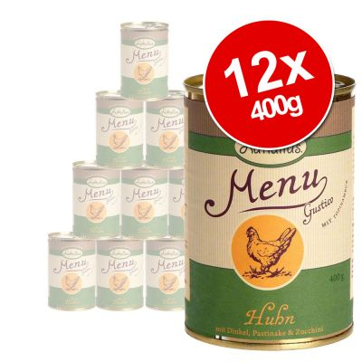Lukullus Menu Gustico Saver Pack 12 x 400g - Veal with Oats, Pear & Leeks