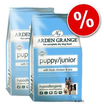 Arden Grange Dog Puppy/Junior Chicken & Rice -  Economy Pack: 2 x 15 kg