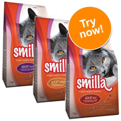 Smilla Adult Dry Food Mixed Trial Pack - 3 x 1kg