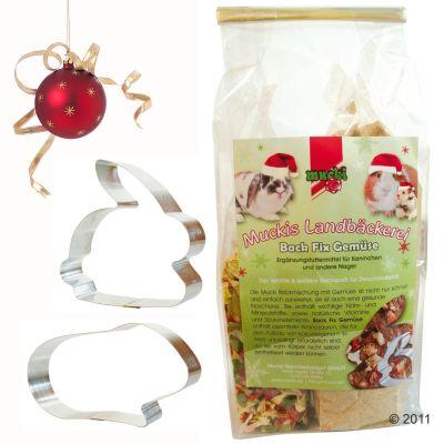 Mascotas - Mezcla para hacer galletas para roedores Mucki Nager - - 375 g mezcla horneada + 50 g mezcla de verdura