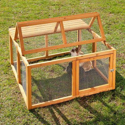 Enclos Outback Springtime en bois pour rongeur et lapin - enclos uniquement : L 100 x l 100 x H 50 cm