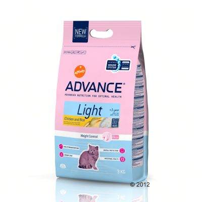 Croquettes pour chat Advance Light- 3 kg