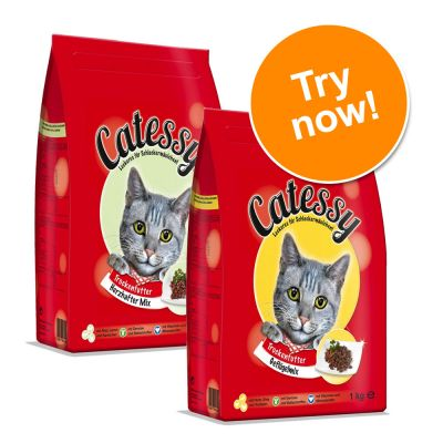 Catessy Dry Cat Food Adult - Mixed Trial Pack - 1kg Poultry Mix + 1kg Hearty Mix