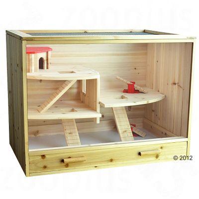 Loft Wooden Cage - 60 x 50 x 80 cm (L x W x H)